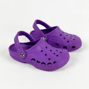 Crocs Baya Clogs Kids Size 13 purple